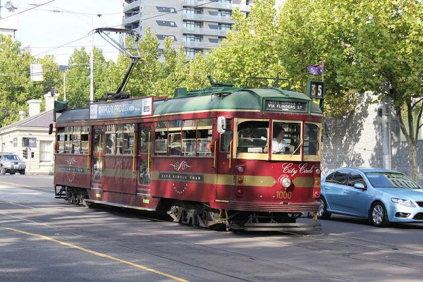 Free Red City Circle Tram, Melbourne.