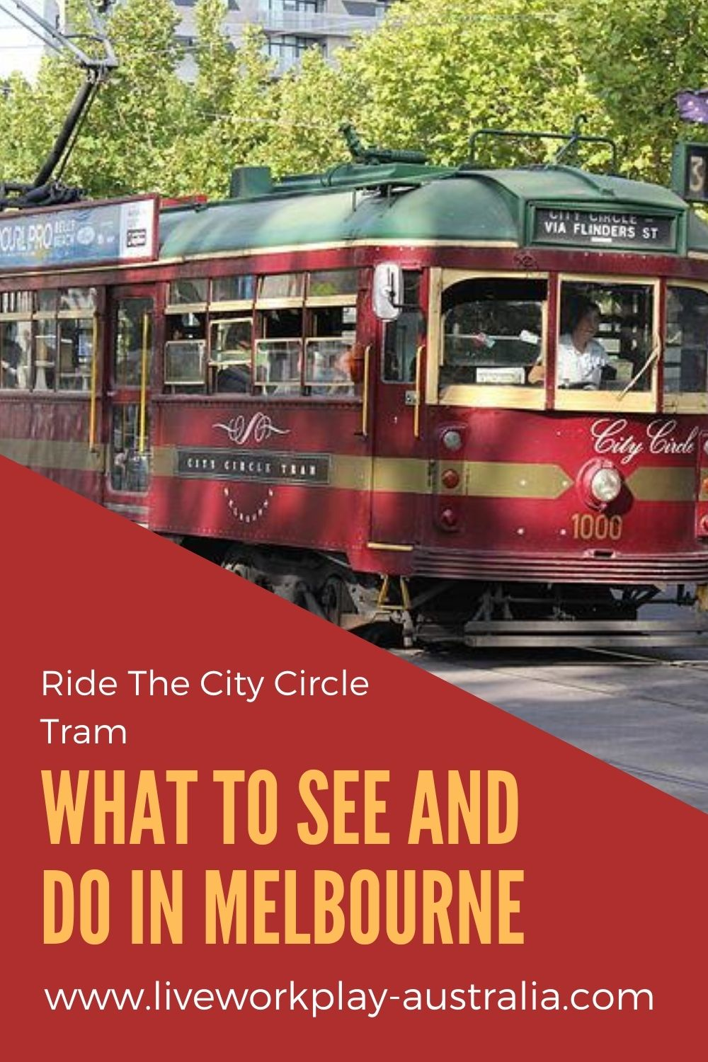 City Circle Tram in Melbourne Pinterest Pin