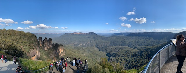 Three Sisters In Blue Mountains Overlooking Jamison Valley In The Blue Mountains.