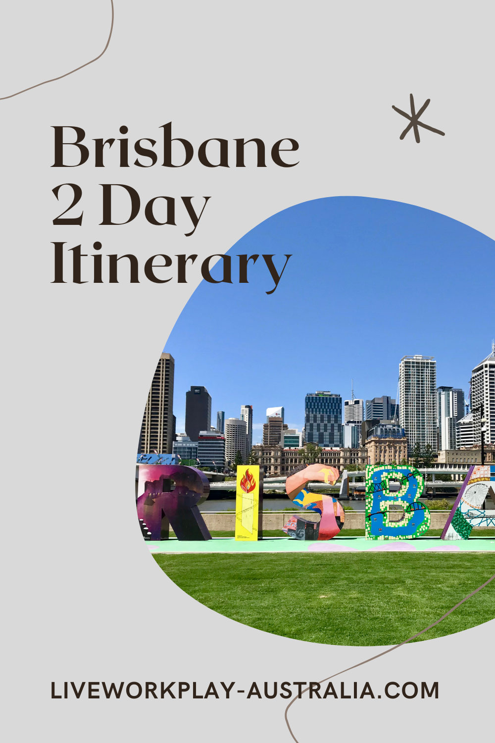 Brisbane Sign In Front Of City During Brisbane 2 Day Itinerary