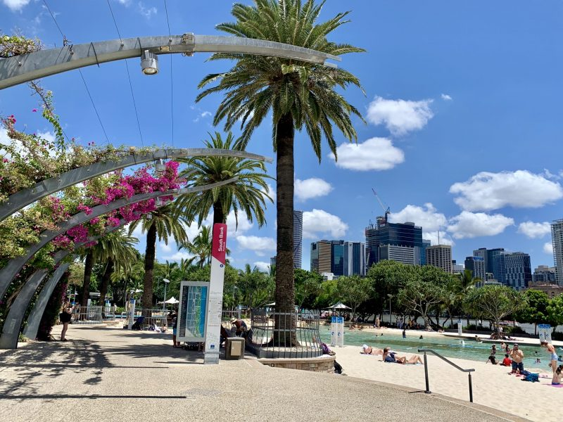 The Arbour Along Streets Beach in Brisbane The Only Inland Beach in Australia