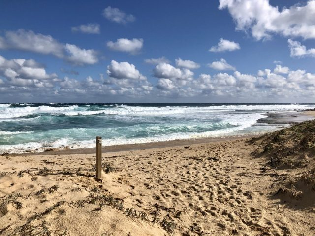 Cape To Cape In Western Australia Sees You Enjoy Many Beaches Such As This Beautiful White Sand Beach With Waves Lapping It.