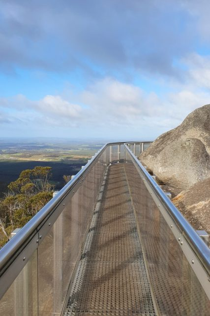 The Granite Skywalk At Castle Rock In WA Has A Metal Walkway Around The Rock. Fabulous Views Over Western Australia Countryside To Be Had.