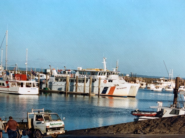 Boats in Urangan Harbour used for Whale Watch Tours Harvey Bay.