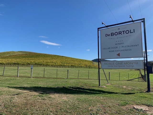 De Bortoli Is A Winery In Dixons Creek On The Melba Highway. Lush Green Vines Growing Grapes For Wine Production.