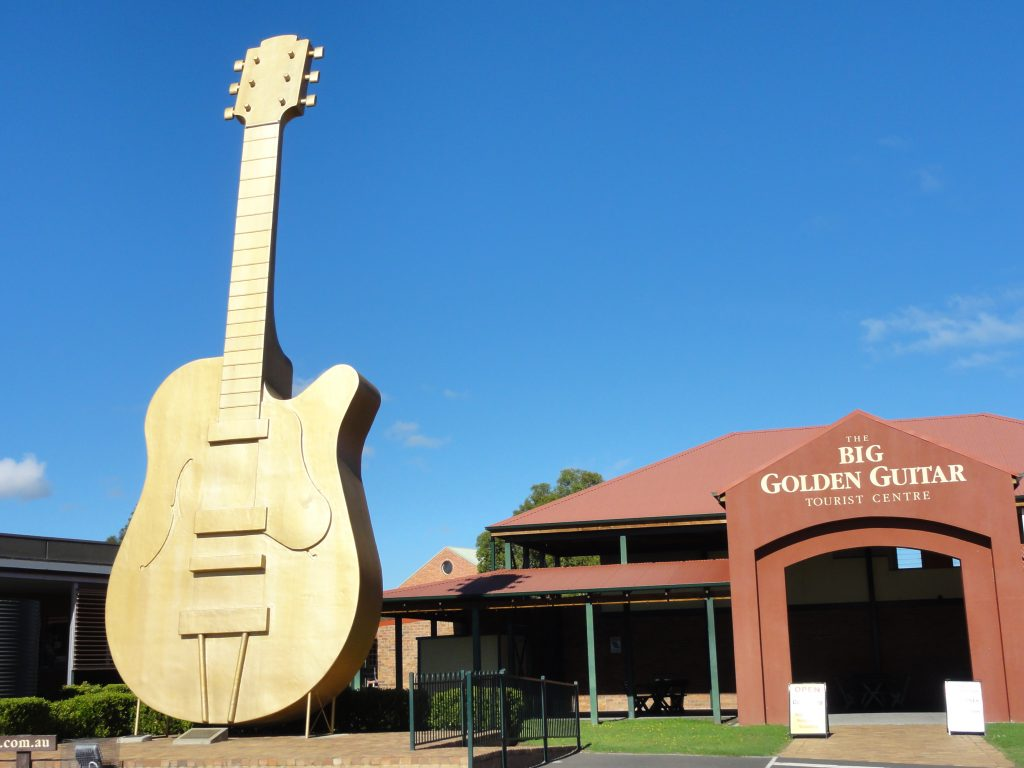 The Golden Guitar In Tamworth On A Road Trip Along The New England Highway.