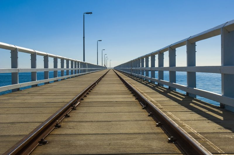Busselton Jetty. The Longest Timber Jetty Over The Ocean In The Southern Hemisphere.