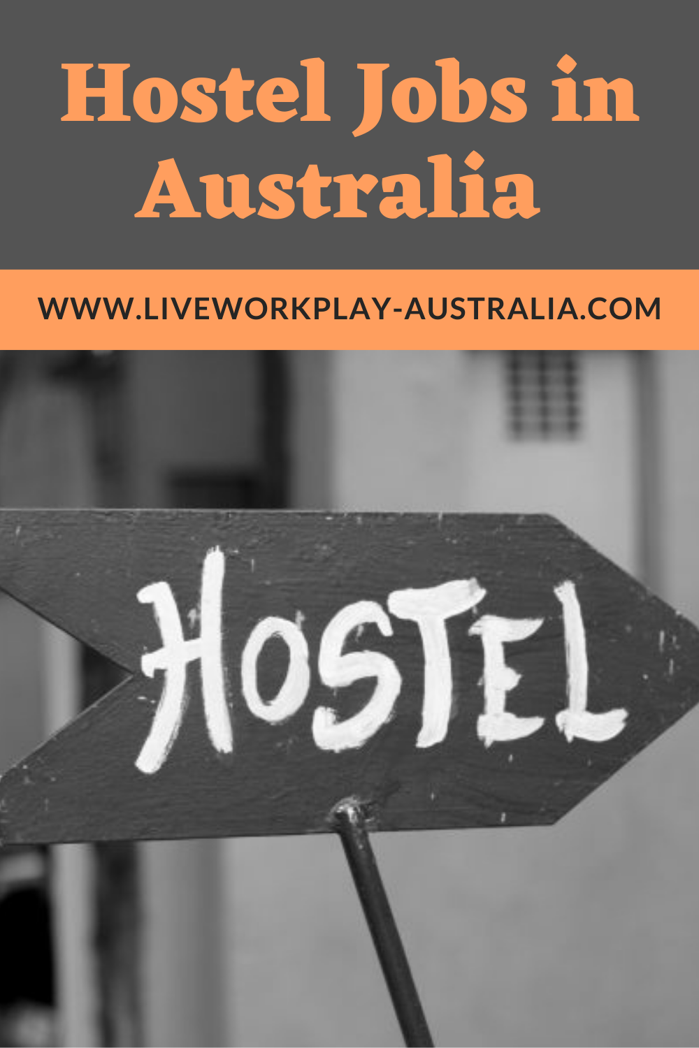Hostel Sign Pointing To Hostel Jobs Pin