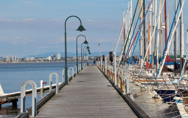 Williamstown Pier. Timber Pier With Yachts