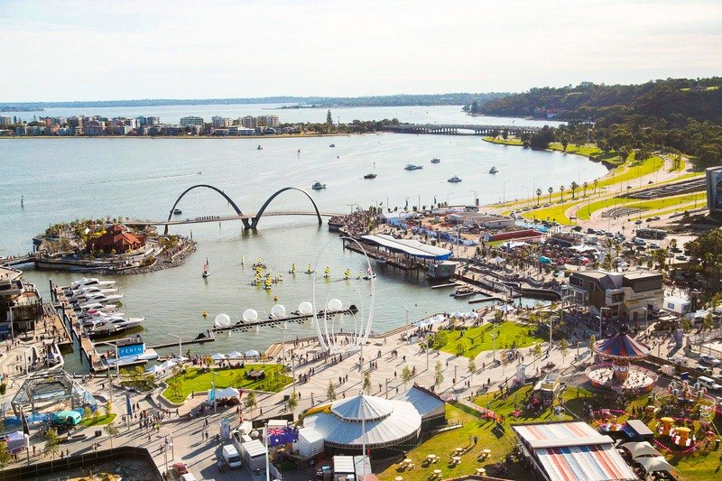 Elizabeth Quay In Perth Is A Transport Hub With Ferries And Other Public Transport. It Is Very Much Like Sydney Harbour Which You Can Walk Around And Enjoy A Coffee Or Meal In One Of The Many Eateries.