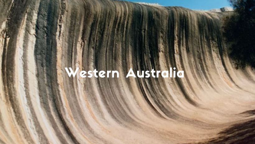 Wave Rock Is A Natural Wonder In Western Australia. A Stone Carved Out By Wind And Rain To Look Like A Wave.
