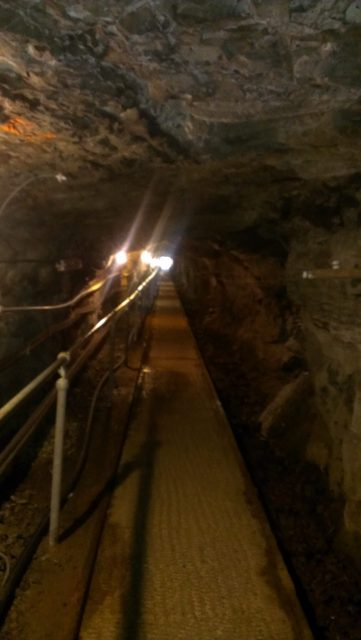 Walking Down The Dimley Lit Tunnel To The Coal Mine.