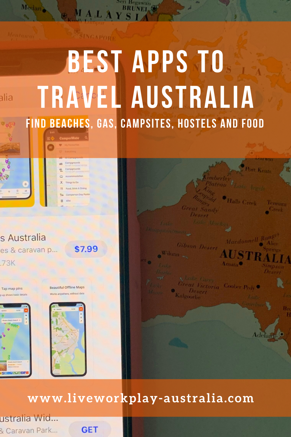Phone With Apps To Travel Australia.