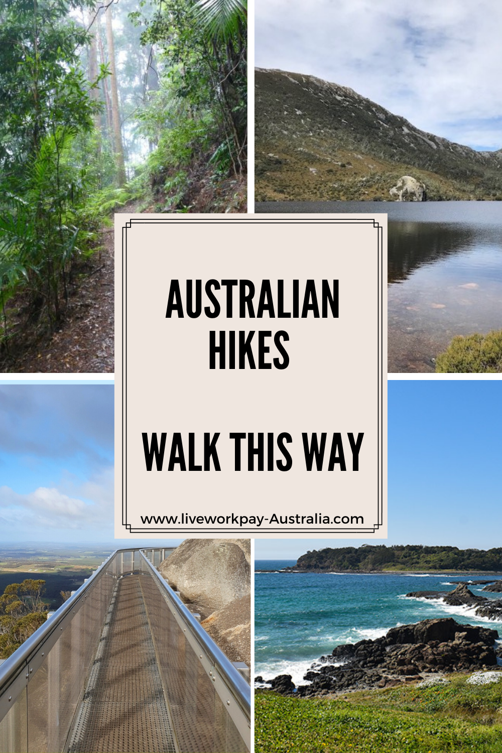 Pin Showing Great Australian Hikes.