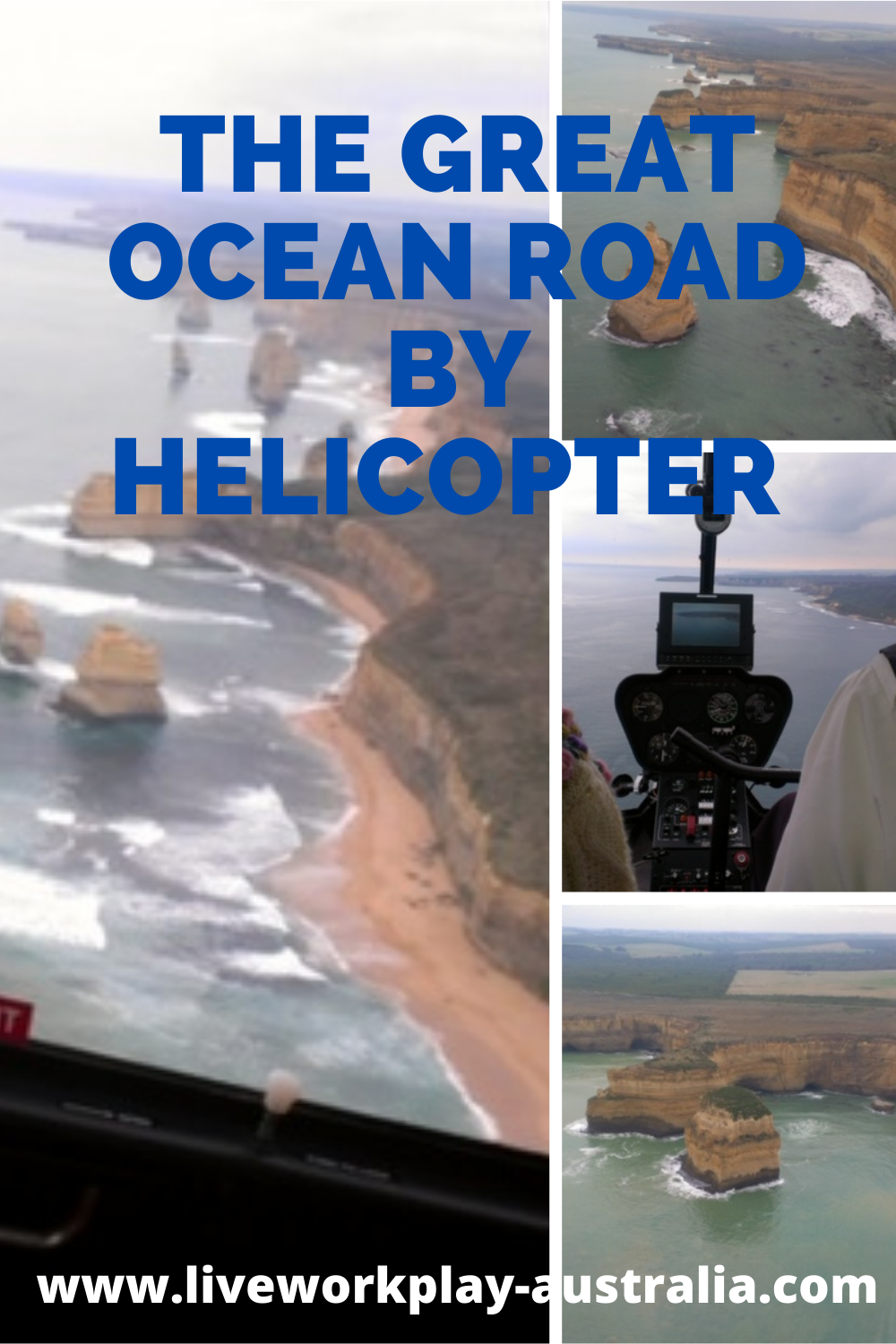 Great Ocean Road By Helicopter Showing The Dramatic Coastline.