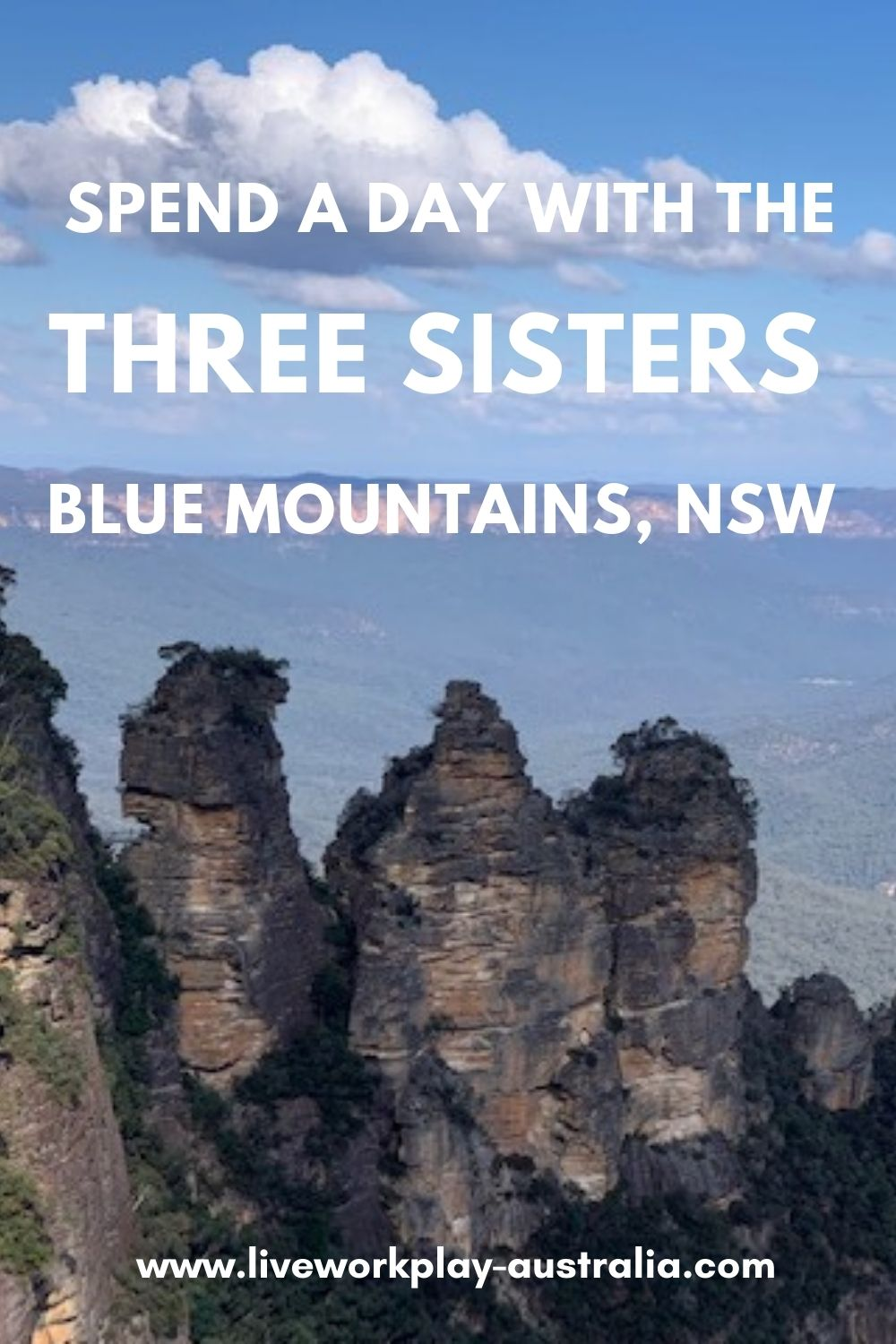The Three Sisters Are Rock Formations In The Blue Mountains, NSW, Australia.