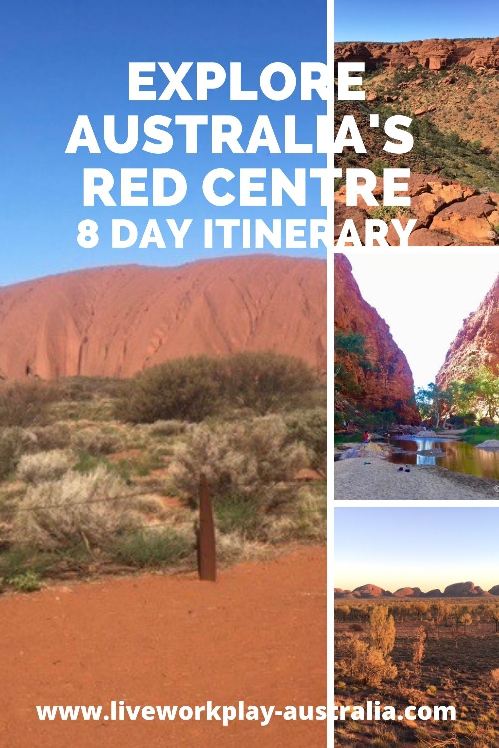 Australia Red Centre Pin. With Uluru, Formerly Ayers Rock, Kings Canyon, Standley Chasm And Kata Tjuta Formerly The Olgas.